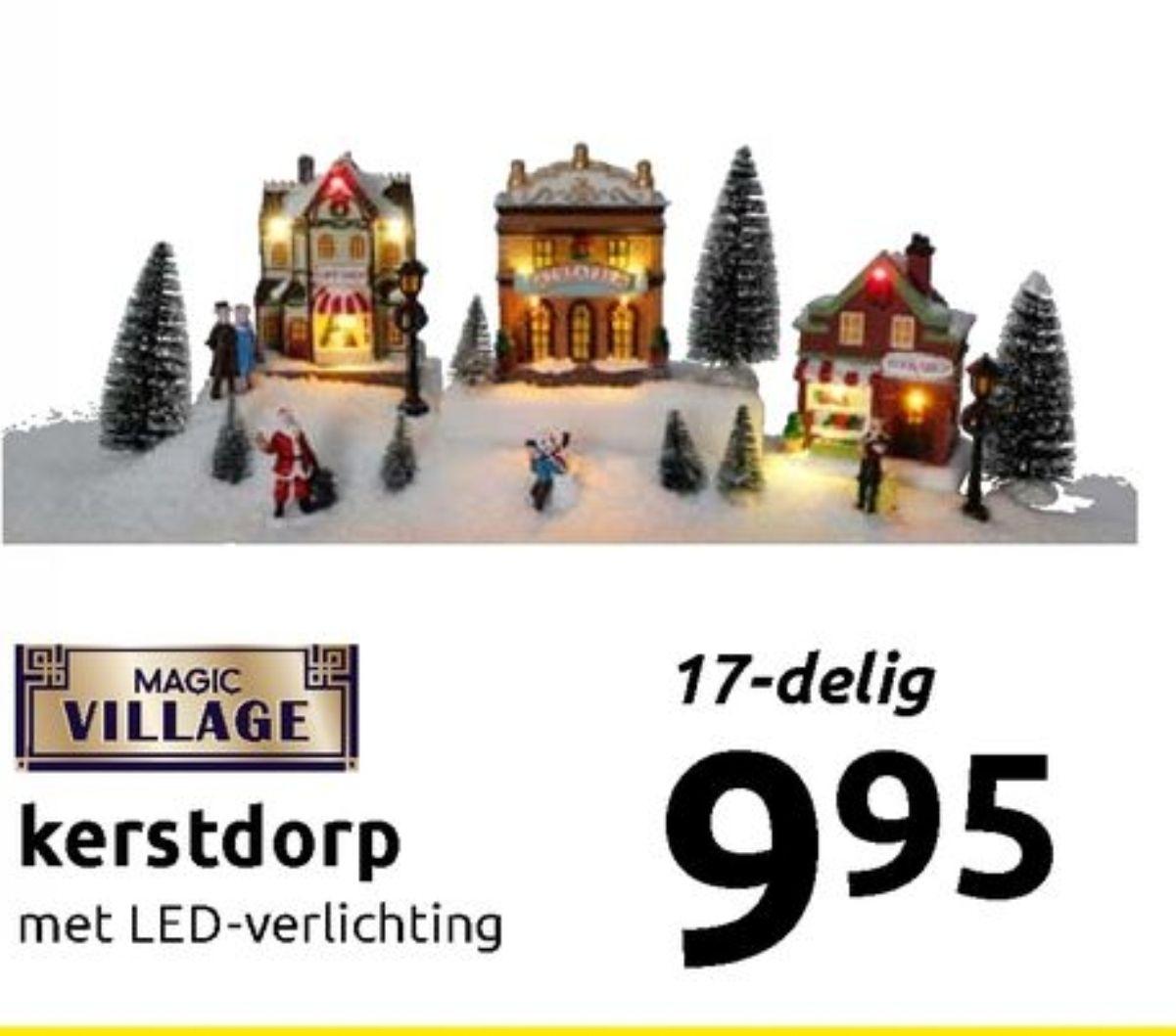 Kerstdorp met led verlichting (action)