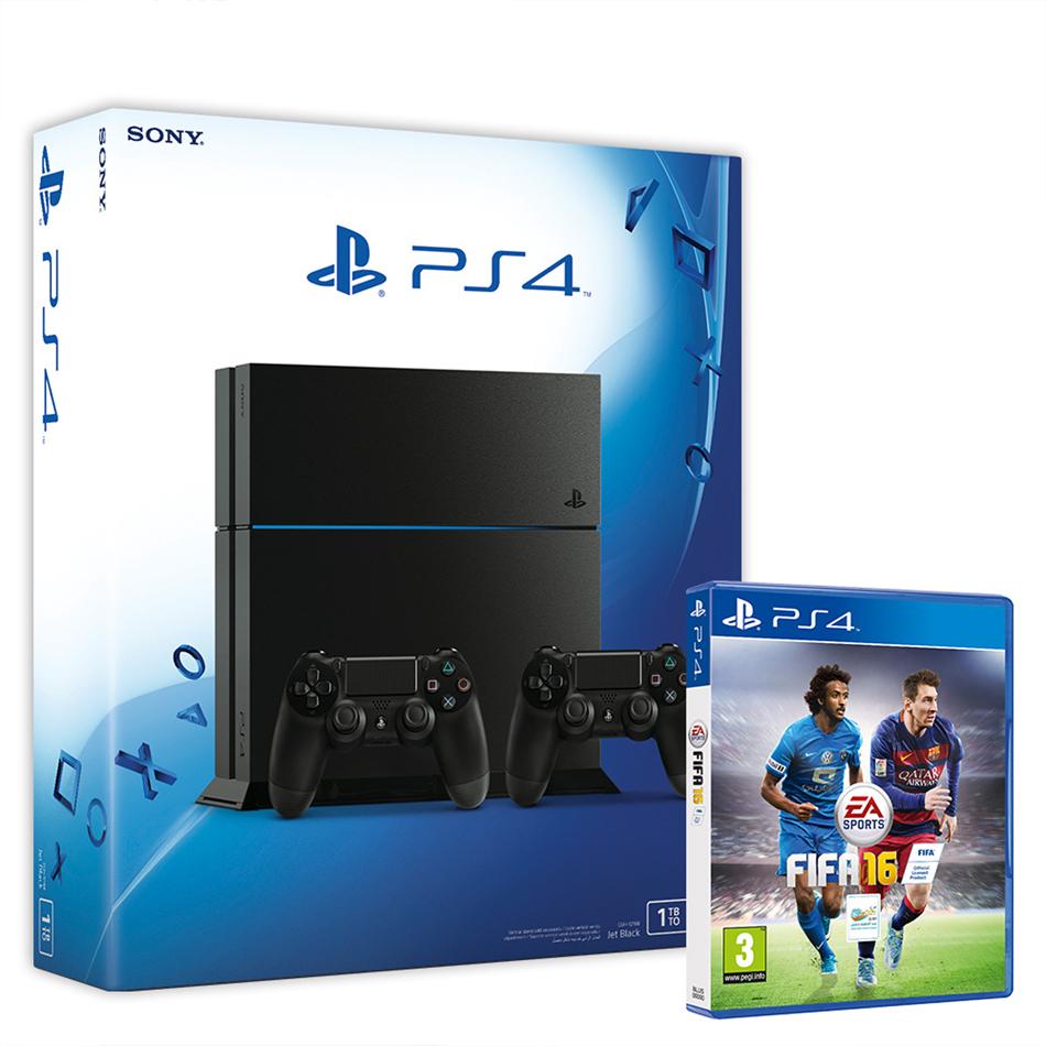 PS4 1TB + FIFA16 + extra controller voor €397 @ Wehkamp