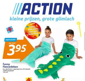 @Action. Funny fleecedeken €3.95