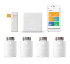 Tado° Thermostaat Starter Kit V3+ + tado° Slimme Radiatorknop (4-pack) @ Tink