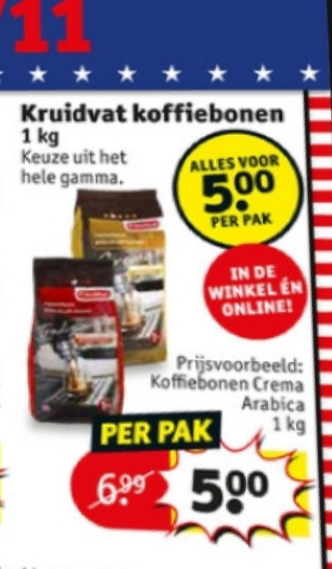 [Grensdeal België] Koffiebonen voor 5€ per kg @Kruidvat