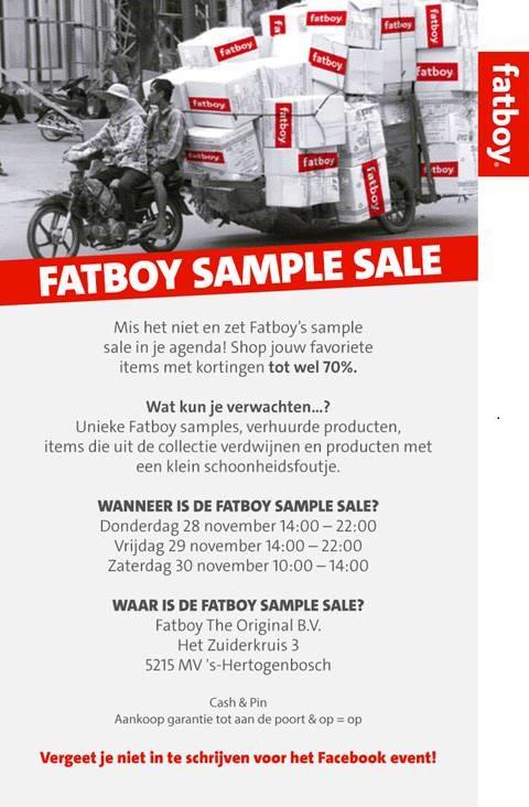 Fatboy Sample Sale (Den Bosch) 28, 29 & 30 November