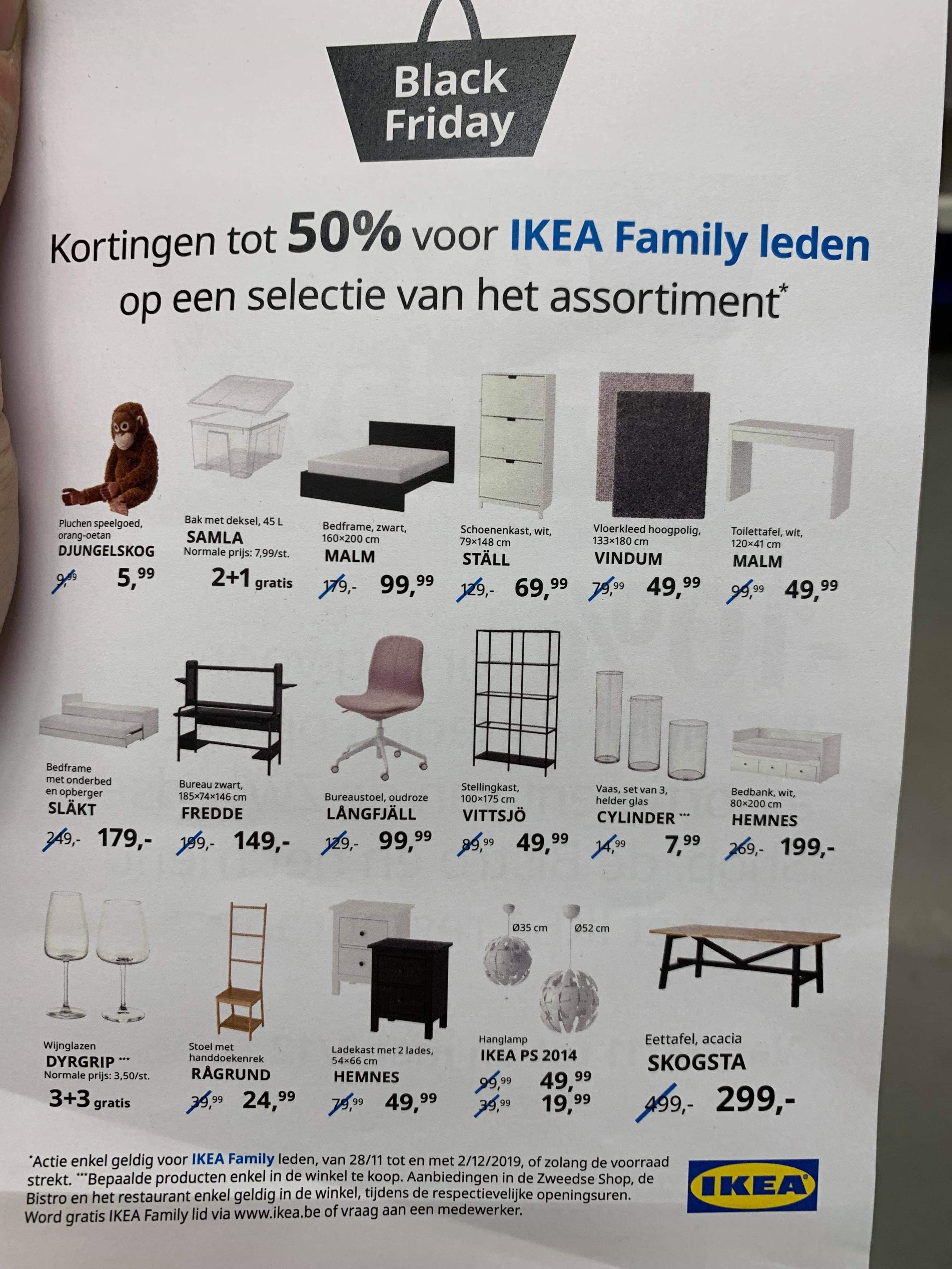 [België] Black friday deals voor ikea family leden