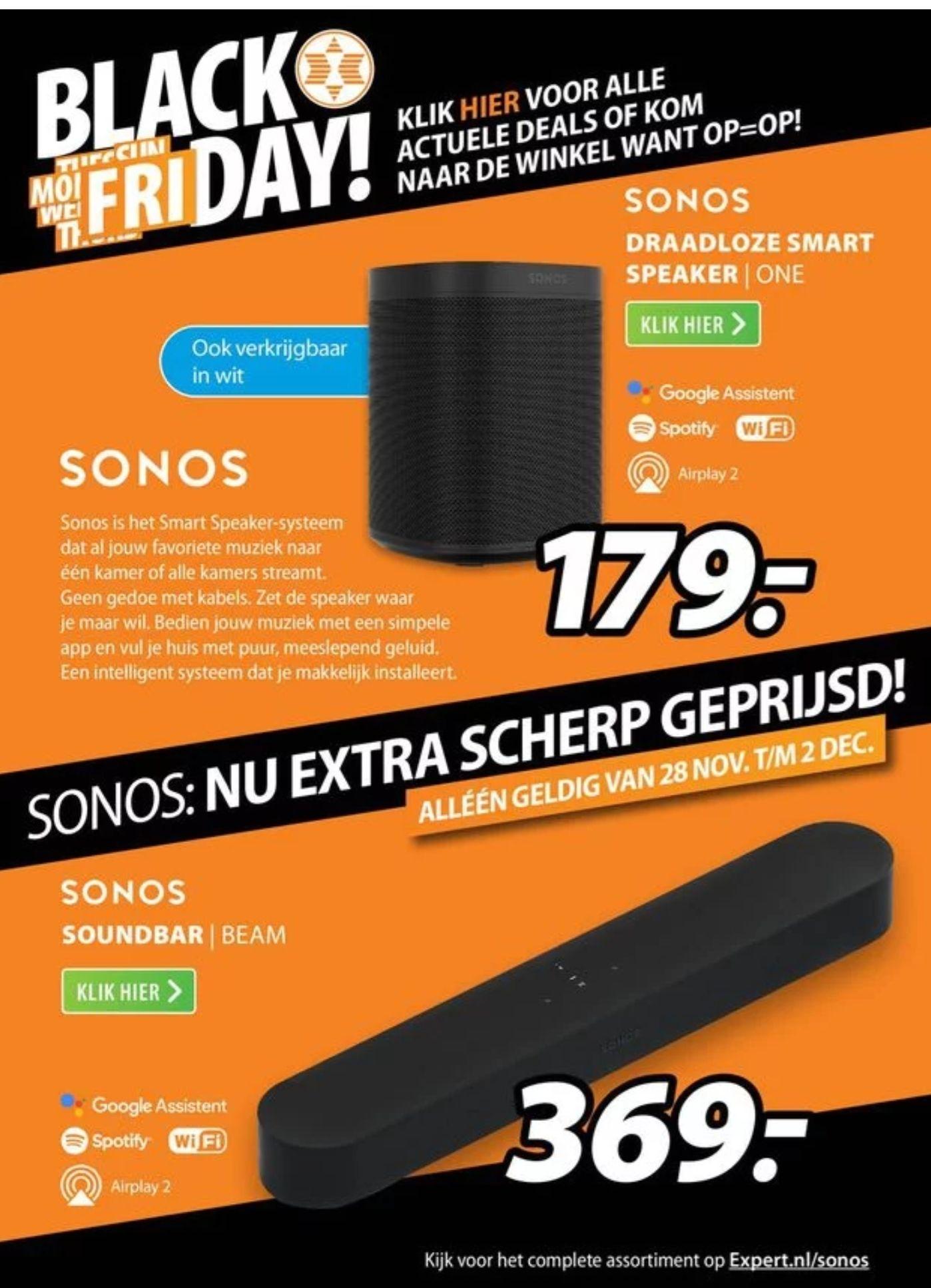 [Black Friday] Sonos Beam €349 & One €169