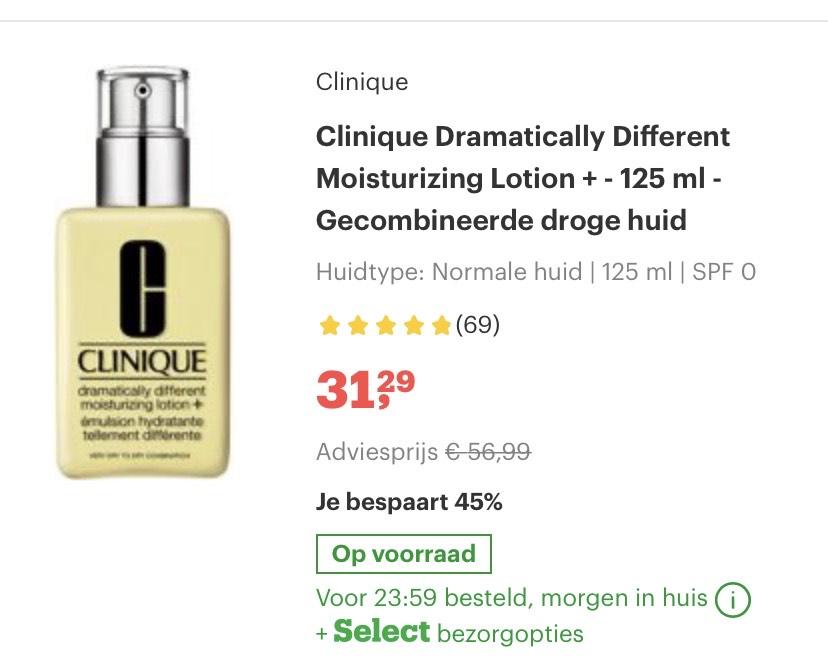 Clinique @ Bol.com met kortingen tot 45%
