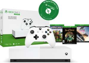 Xbox One S console 1TB All-Digital (zonder disc-drive) + Forza Horizon 3 + Sea of Thieves + Minecraft