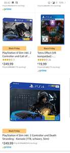 PlayStation slim 1TB +2 controllers en Cod mw of death stranding
