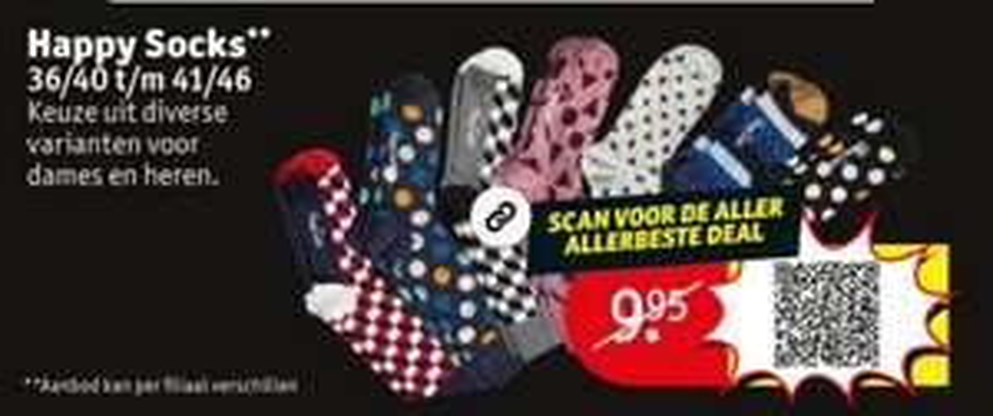Twee paar Happy Socks @kruidvat