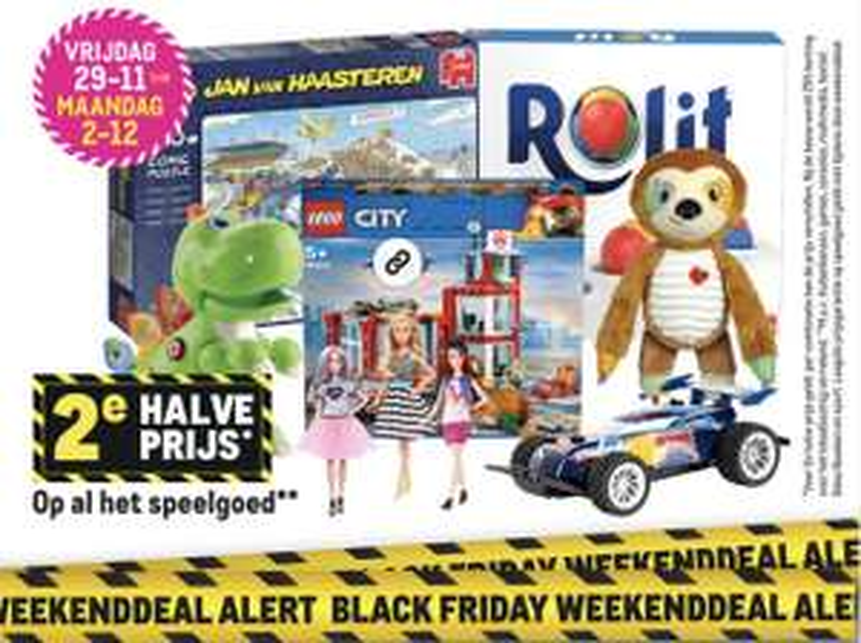 Black Friday 2e halve prijs op speelgoed (ook op Lego) bij Makro van 29-11 tot 02-12