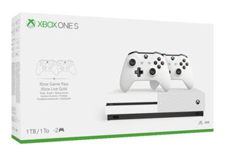 [Grensdeal] Xbox One S (met disc drive!) + 2 controllers (of games) bij Saturn/MM DE