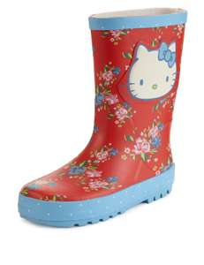 Hello Kitty regenlaarzen €8,95-€9,95 @ MarksandSpencer