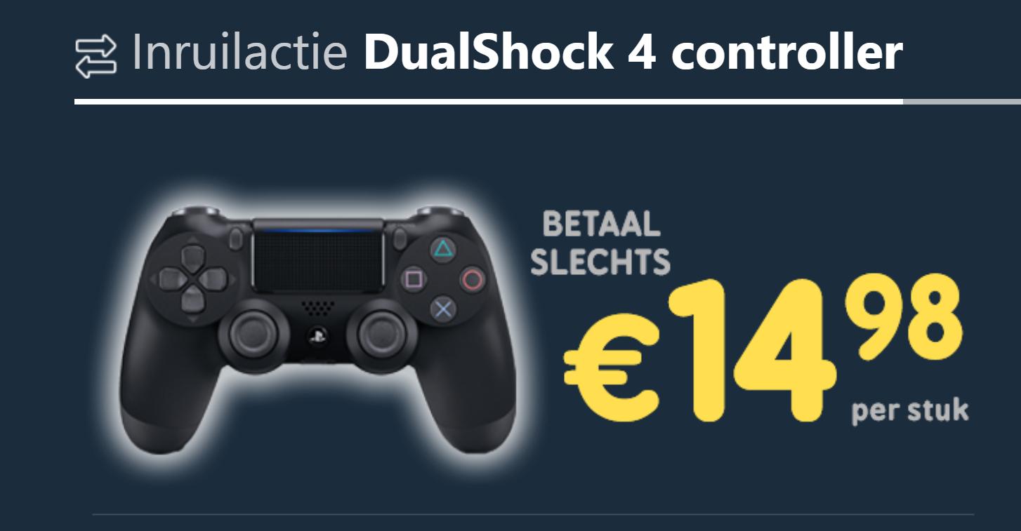 Nieuwe DS4 V2 controller voor €14,98 bij inlevering oude DS4 controller @ Gama Mania