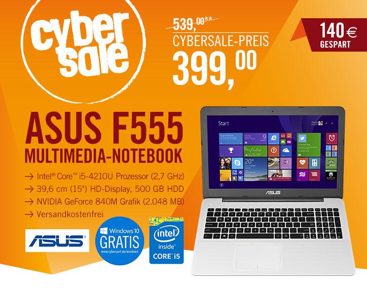 Asus X555 - 15in FHD - i5-4210 - 4GB- GF840M 2GB - 500GB voor €412,99 @ Cyberport.de
