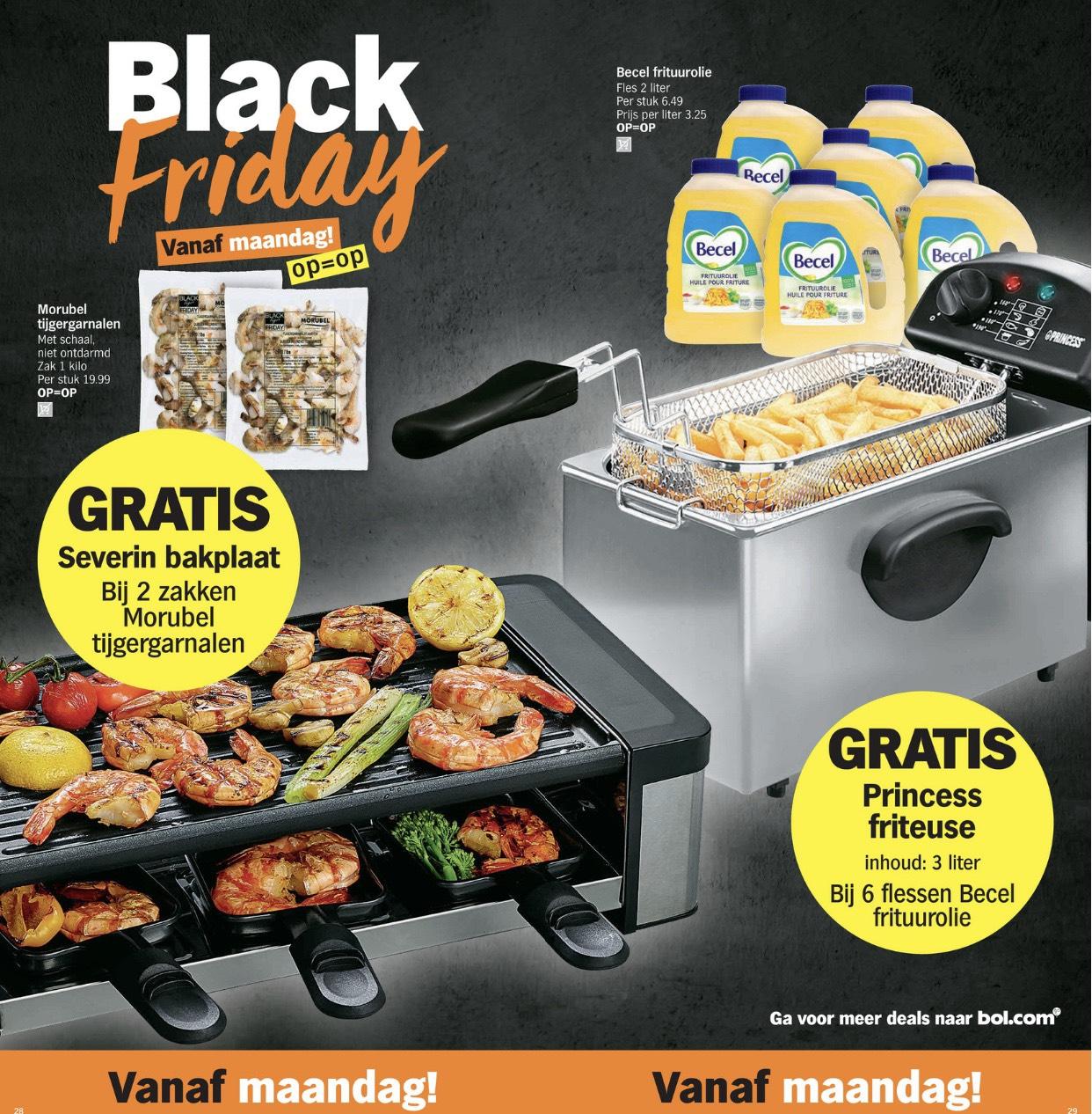 Black Friday @ Albert Heijn België - GRATIS bakplaat/friteuse/waterkoker bij aankoop van bepaalde items