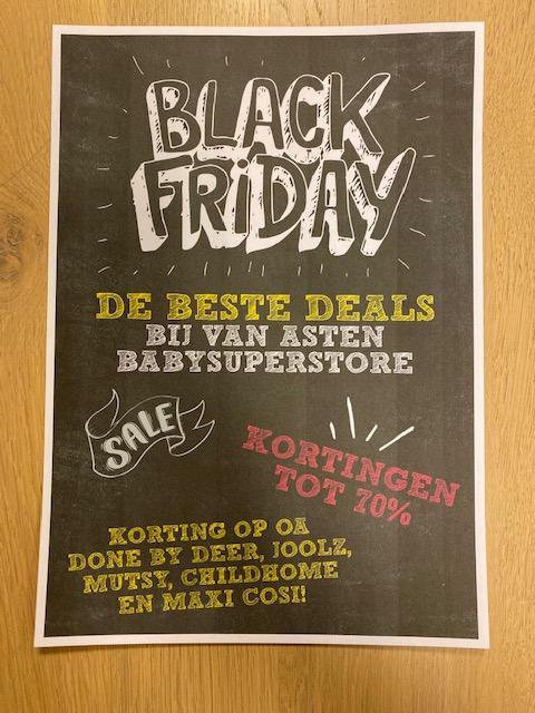 Black Friday Deals op Baby Artikelen @ Van Asten - Buggy's, Kinderstoelen etc.