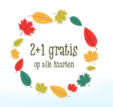 2+1 gratis @kaartje2go.nl