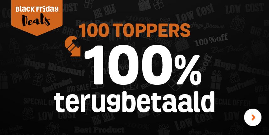 [Grensdeal België]100 toppers 100% terugbetaald in een waardebon bij Fun (ook online voor NL)