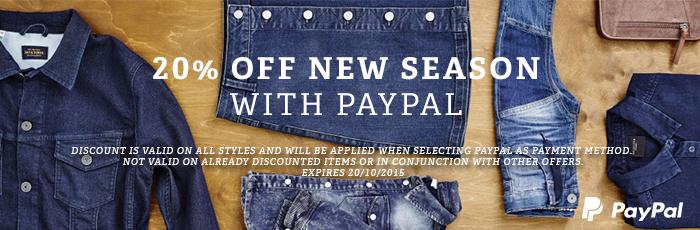 20% korting op alle mode met PayPal @ BESTSELLER.COM