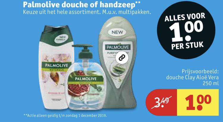 Alle Palmolive douche of handzeep €1 || Kruidvat
