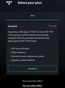TIDAL Black Friday deal, 4 maanden TIDAL HiFi subscription