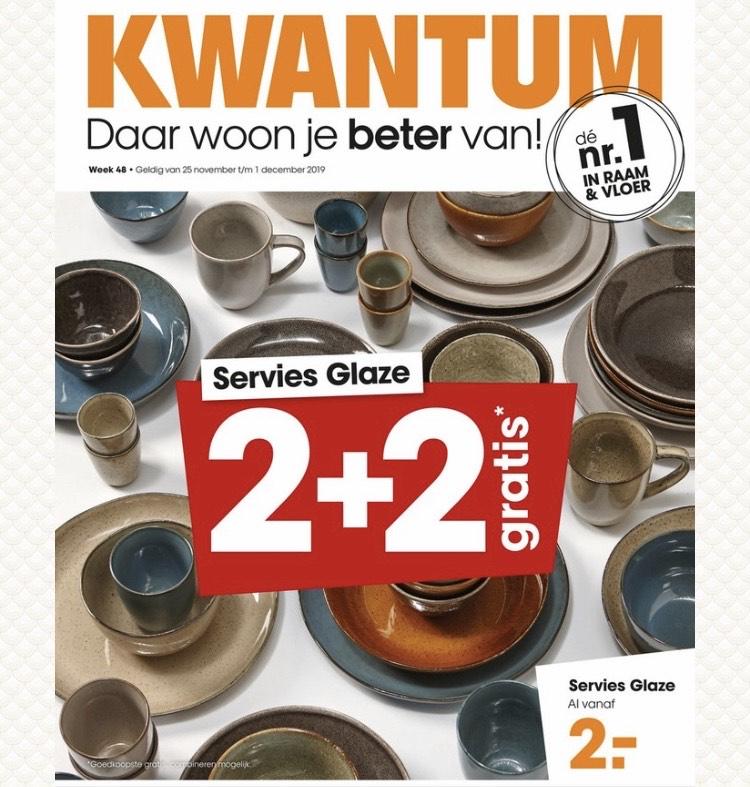 Servies glaze 2+2 gratis @ kwantum!