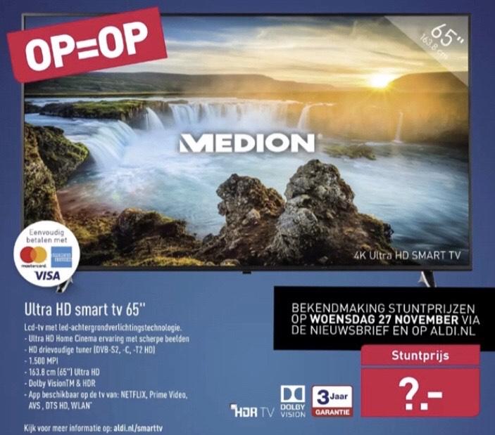 [Aldi Black Friday TV Deal] Medion Ultra HD Smart TV 65 inch voor €499