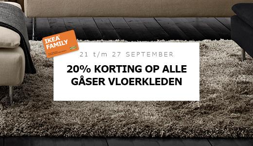 20% korting op alle GÅSER vloerkleden @ IKEA