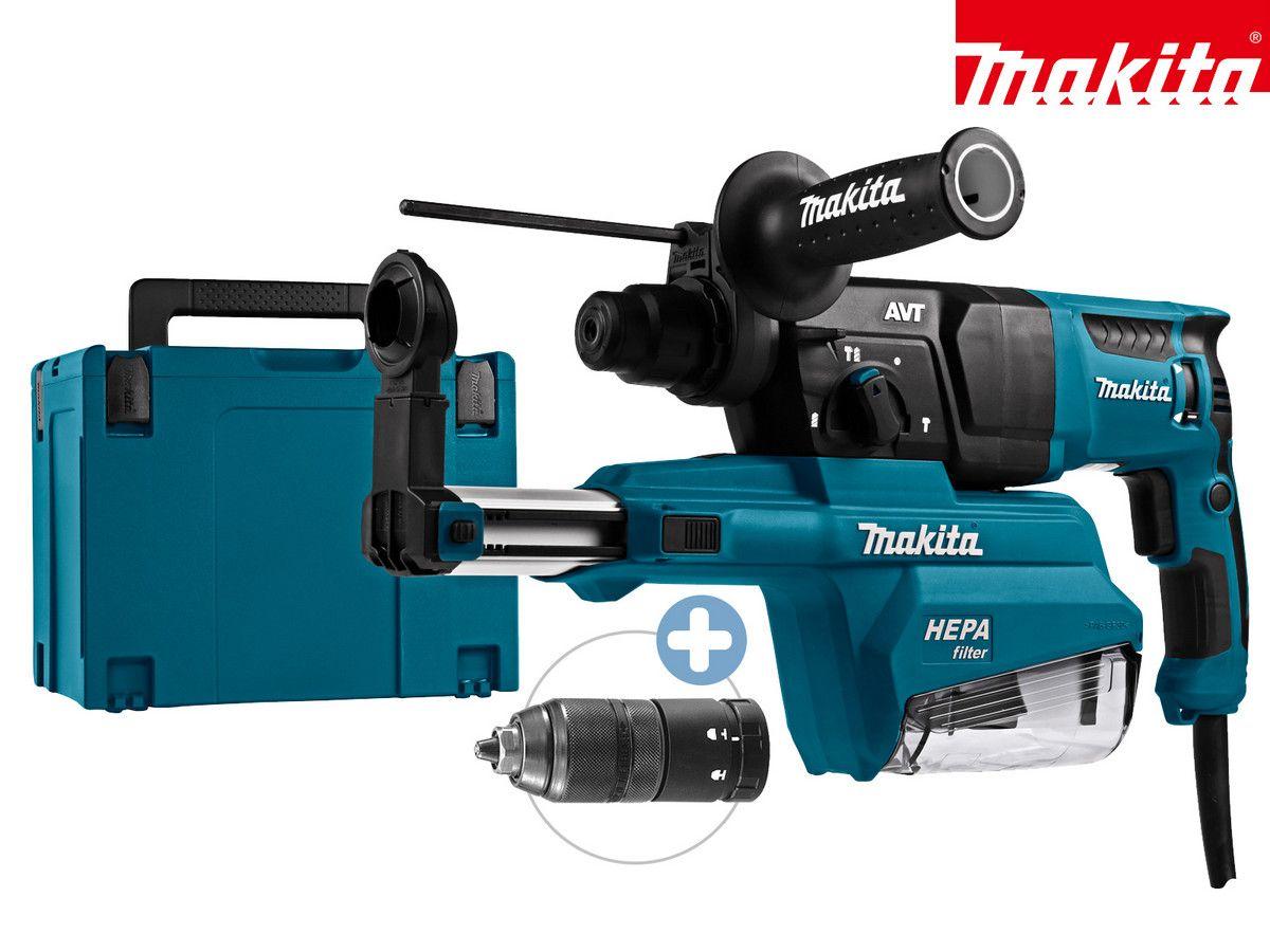 Makita Type: 230 V SDS+ Combihamer | 800 W | Stofafzuiging | HR2651TJ