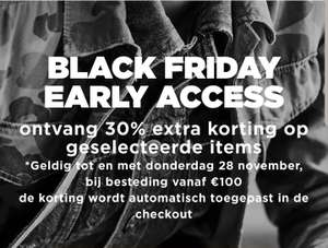 G-Star Raw Outlet 30% extra korting + 10% met code - Black Friday