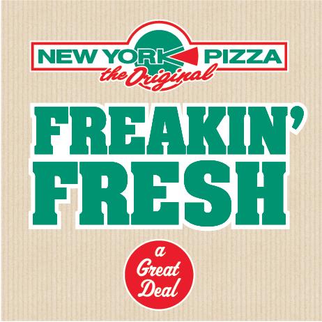 Tweede 25 cm NY Style Pizza gratis @ New York Pizza