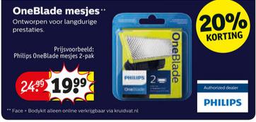 Philips OneBlade navumesjes @Kruidvat