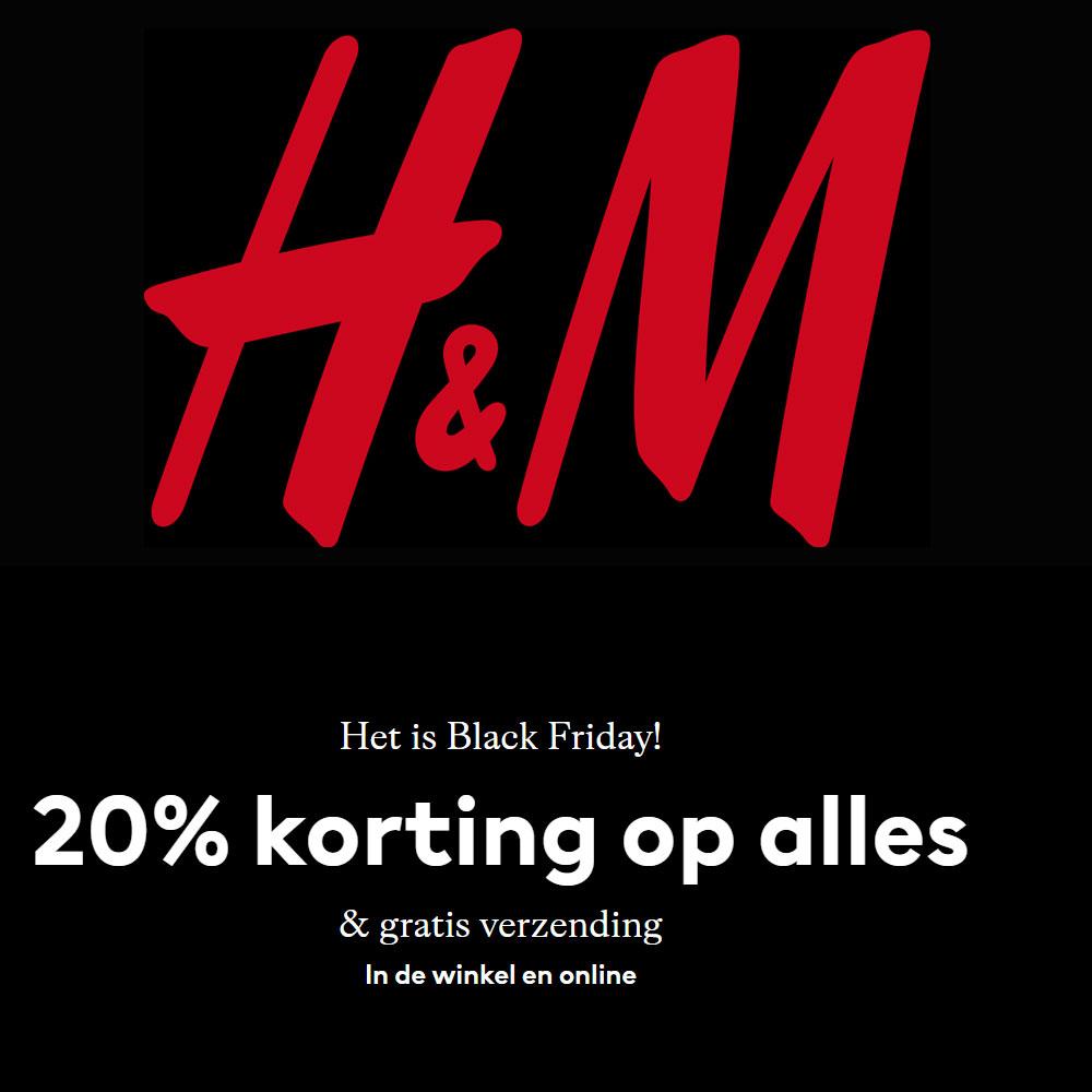 Black Friday: 20% (extra) korting + gratis verzending @ H&M