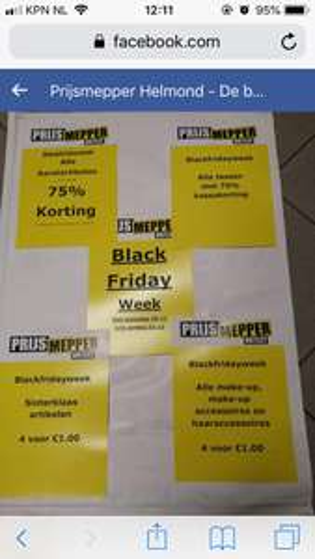 Black Friday @ Prijsmepper Helmond: Sinterklaas artikelen, make-up en meer