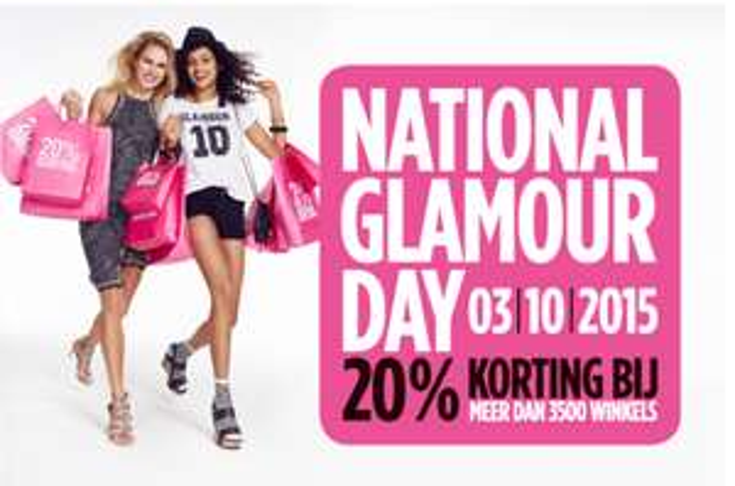 [REMINDER] Zaterdag 3 oktober National Glamour Day, bij heel veel winkels 20% korting
