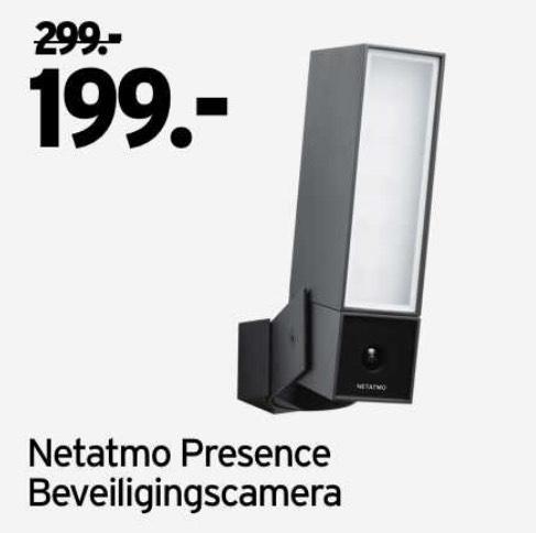 Netatmo Presence beveiligingscamera voor buiten op 29-11-2019 voor €199 bij Gamma
