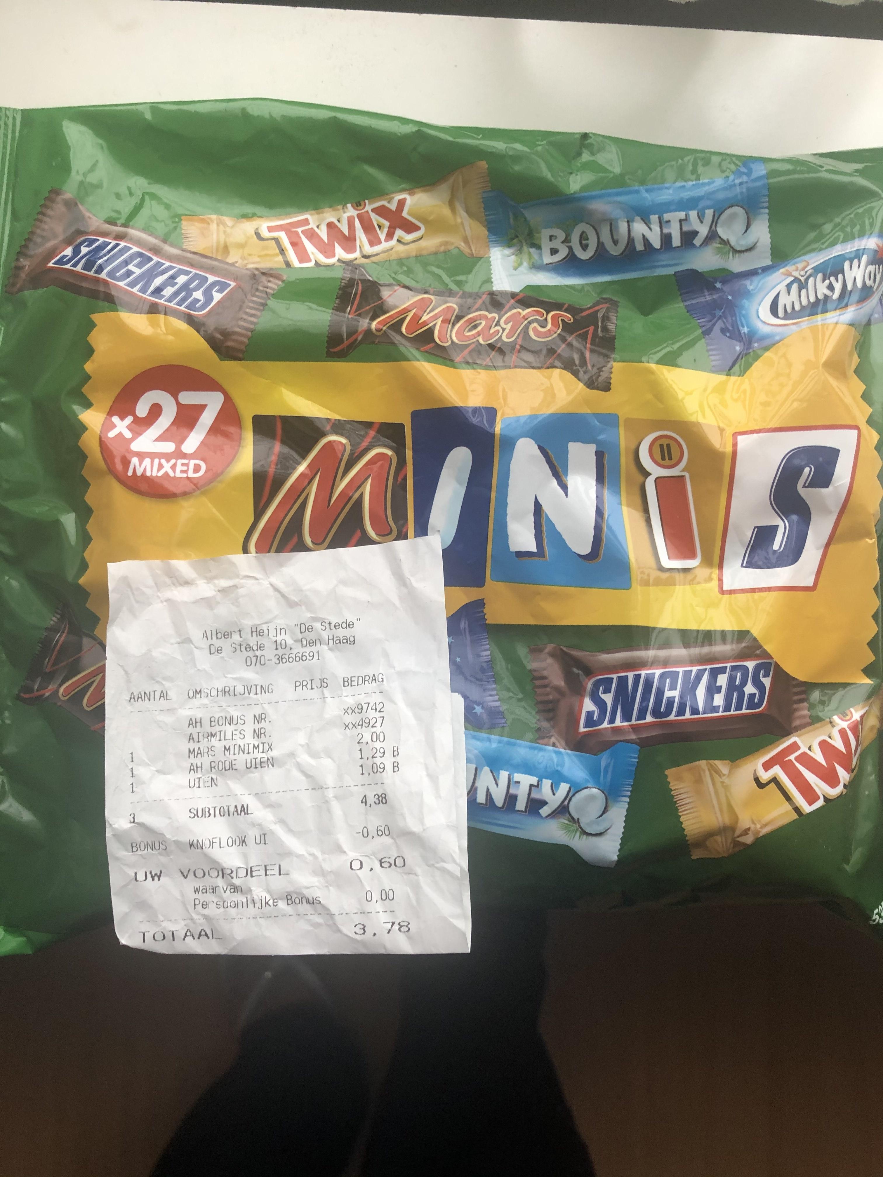 Mars minimix voor €2,00