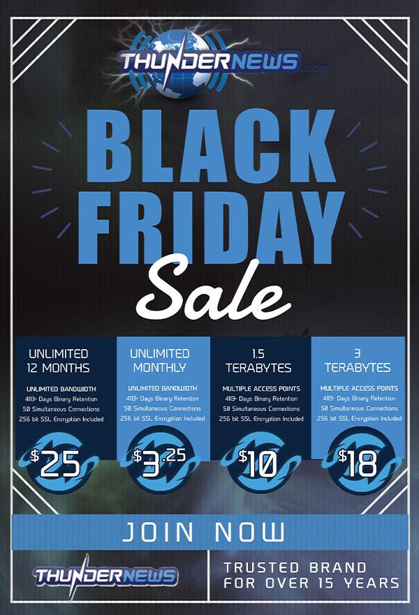 Thundernews Black Friday Sale (incl. VPN)