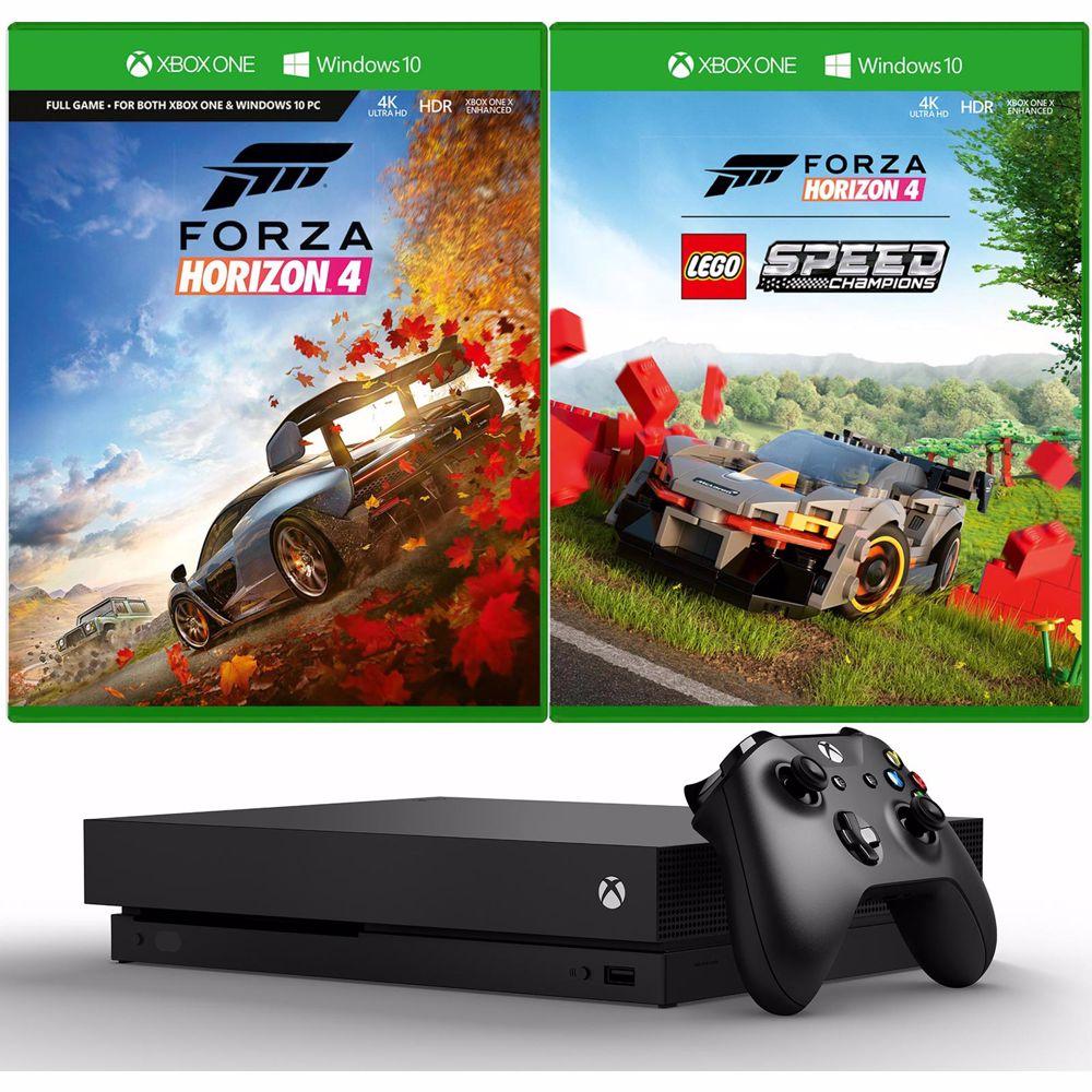 Xbox One X met racespellen