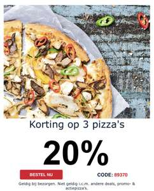 Domino's korting op 3 pizza en meer kortingen