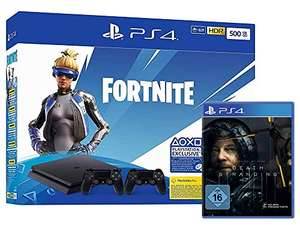 PlayStation 4 Slim 500GB + Fortnite Neo Bundle + 2 Controller + Death Stranding
