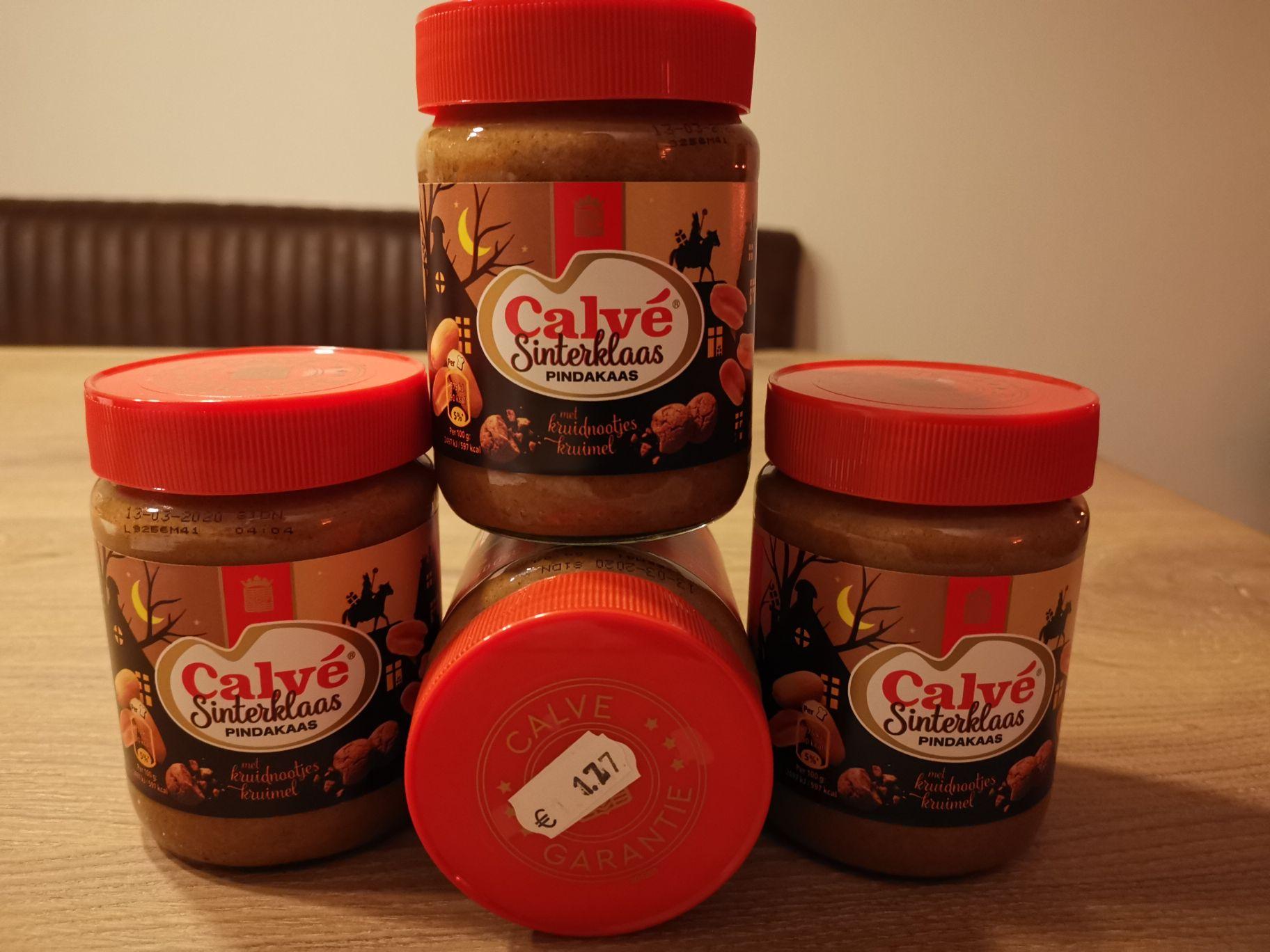 Calve Sinterklaas pindakaas 50% korting