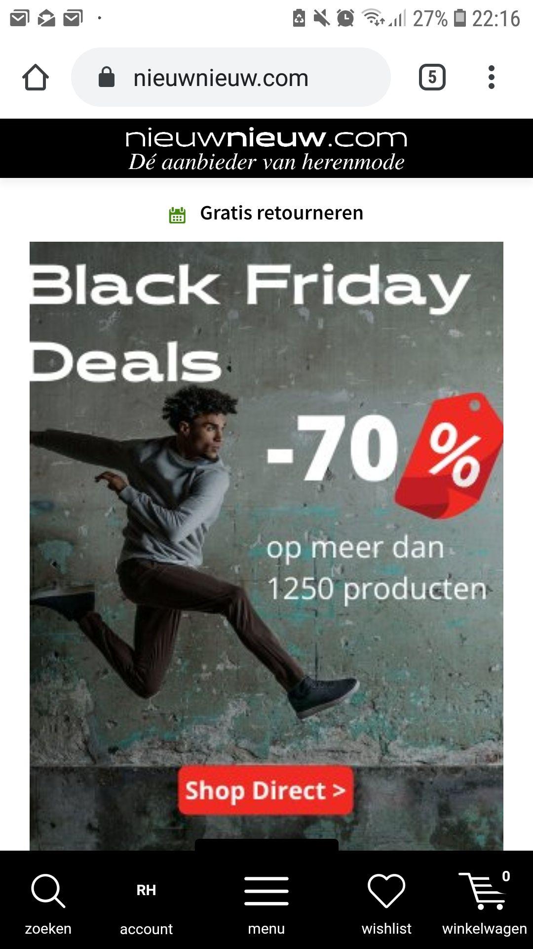 70% korting op alle sale artikelen bij Nieuwnieuw.com