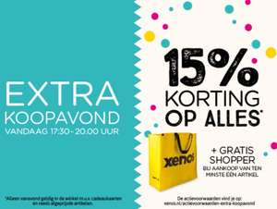 Alleen vanavond 15% extra korting op alles + gratis shopper @ Xenos
