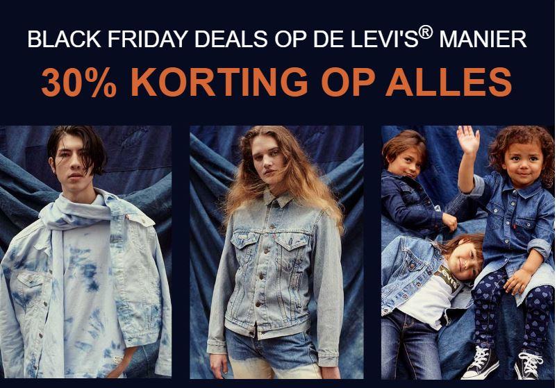 Black Friday: 30% korting op alles @ Levi's