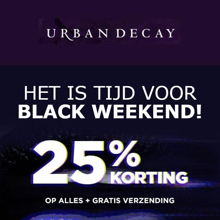 BF: met code 25% korting + gratis verzending @ Urban Decay