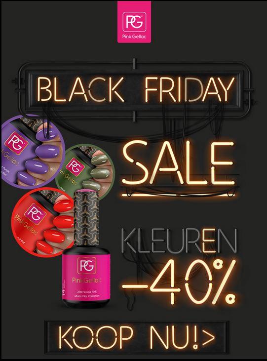 [Black Friday] 40% korting op kleuren bij Pink Gellac