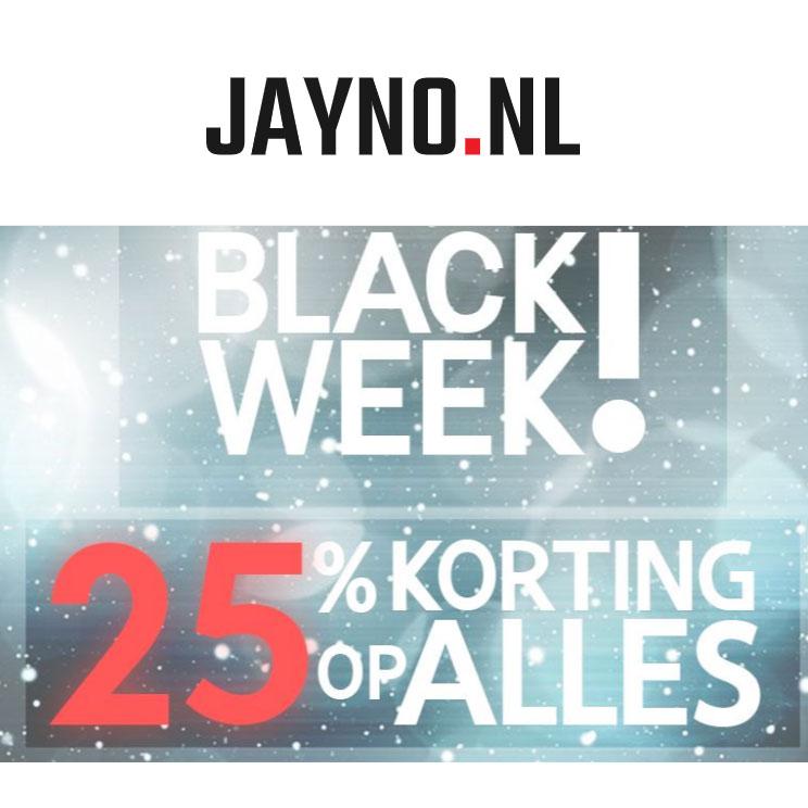 Cyber Monday: met code 25% korting - ook op sale (tot -75%) @ Jayno