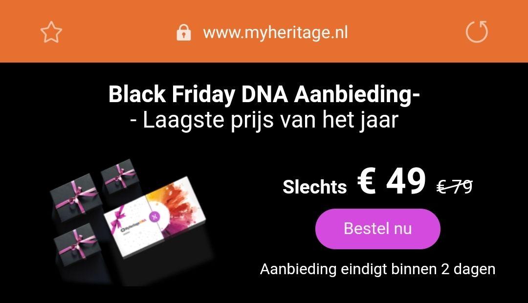 Ontdek je etnische afkomst voor €49 @ MyHeritage