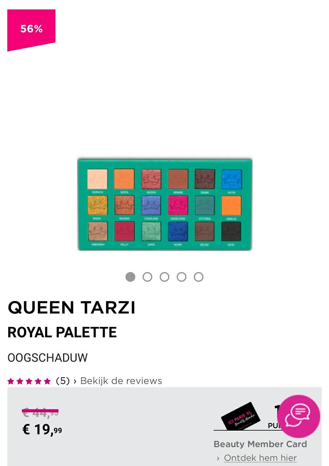 Royal Palette van Queen Tarzi tijdelijk 19.99 euro bij Ici Paris XL
