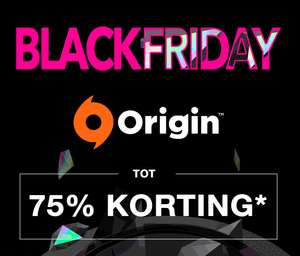 Origin Black Friday (tot 75% korting)